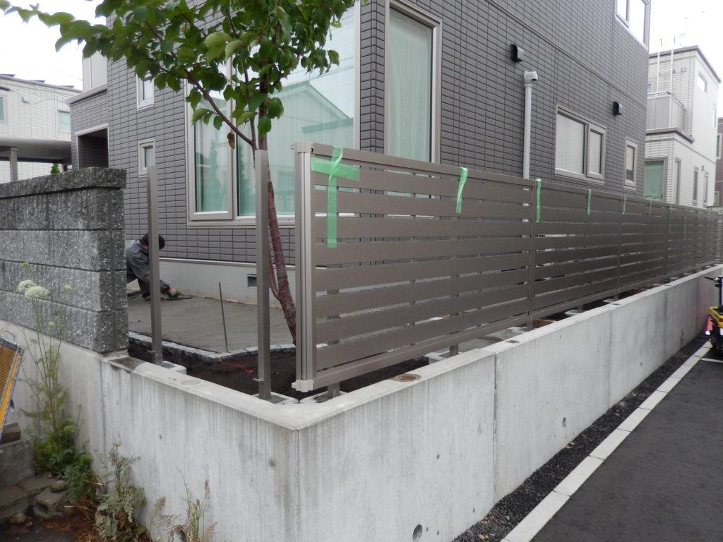 札幌 外構 フェンス