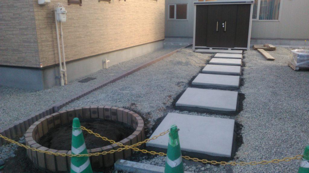 エクステリア 北海道 コンクリート平板
