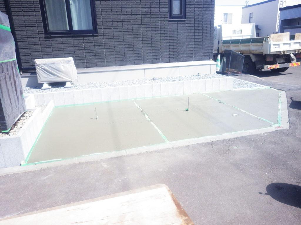 札幌 外構 土間コンクリート