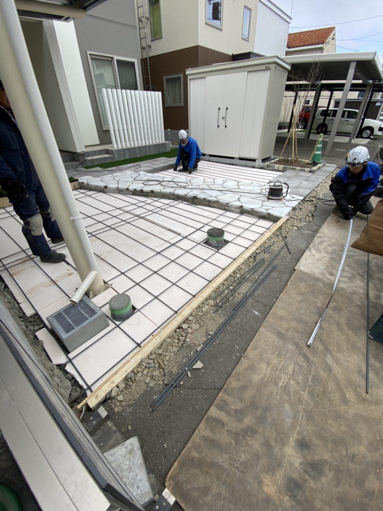 札幌 外構 鉄筋組