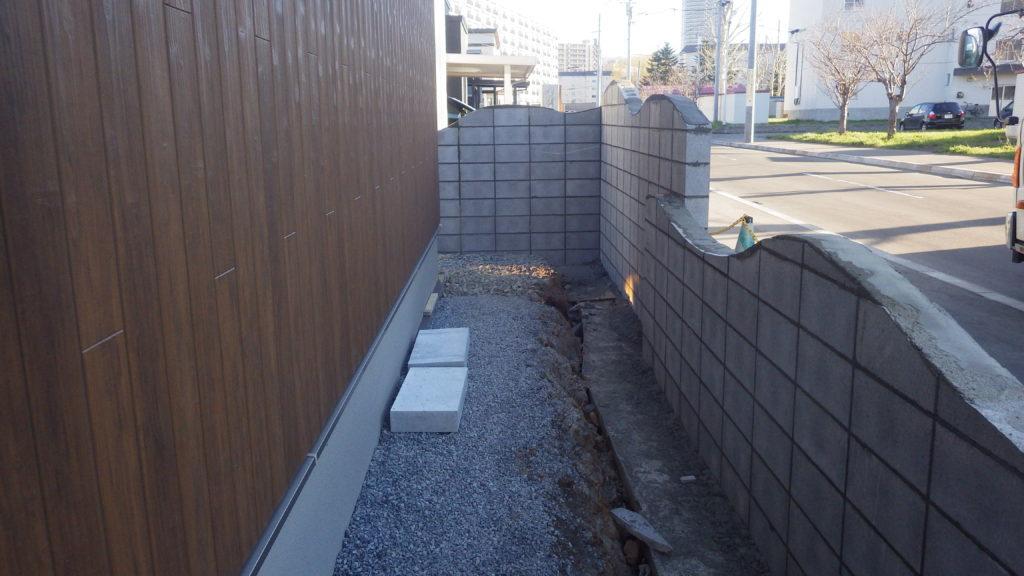 札幌 外構 塗り壁塀