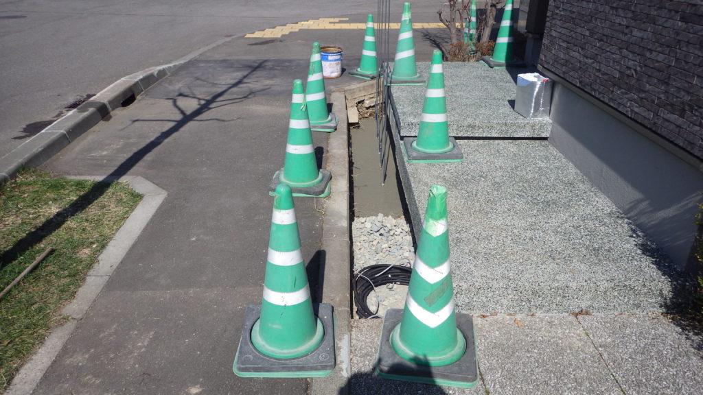 札幌 外構 門柱
