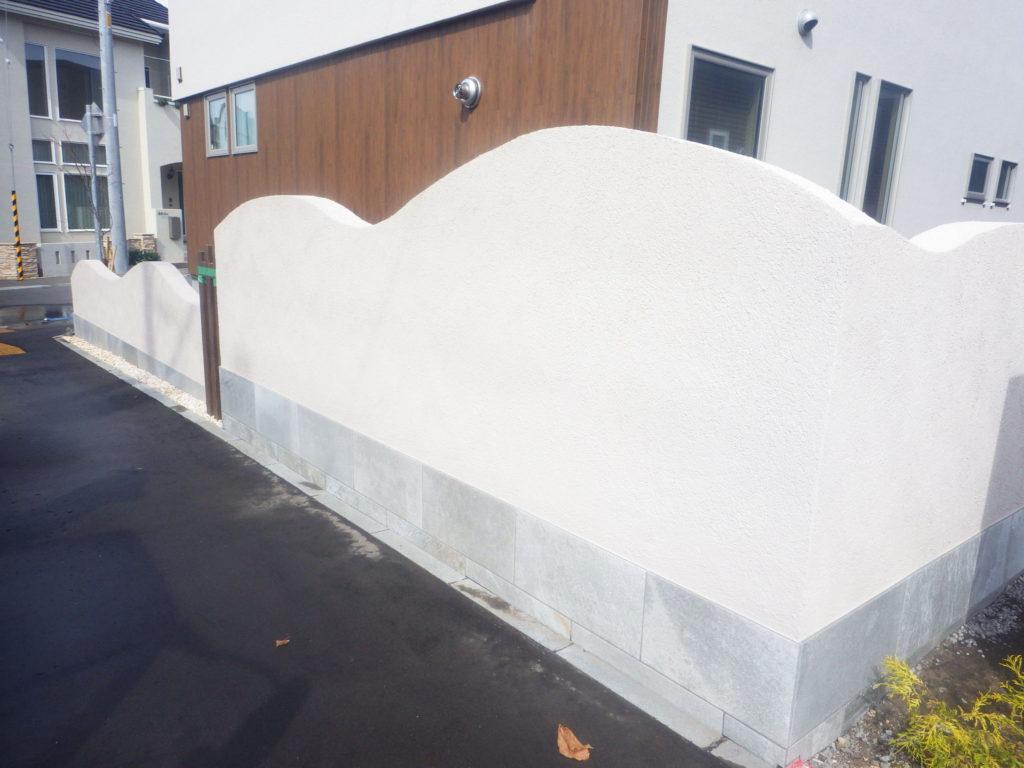 札幌 外構 塗り壁